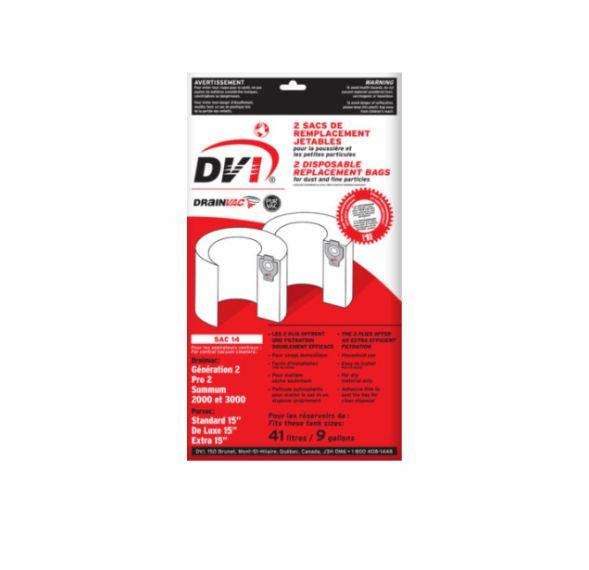 1000 series – Central vacuum disposable cloth dust bag