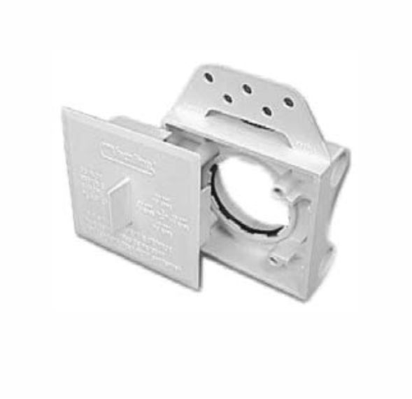 Eurovalve mounting bracket with plaster guard