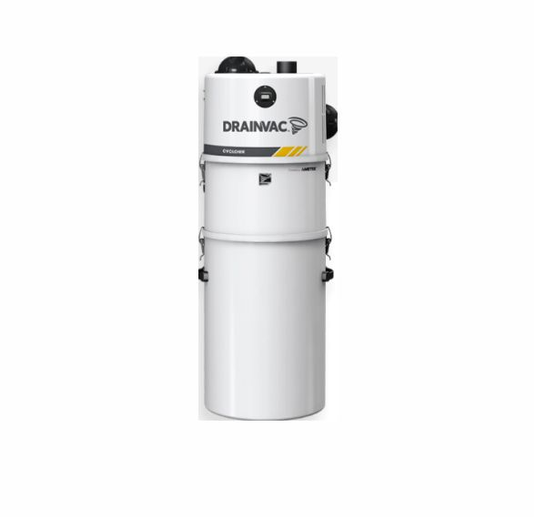 Commercial central vacuum – Cyclonic 3.46 HP with big bucket and cartridge filter